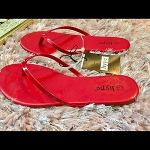 ❤️Cute Red Flip Flop Sandals ❤️ NWT🏷